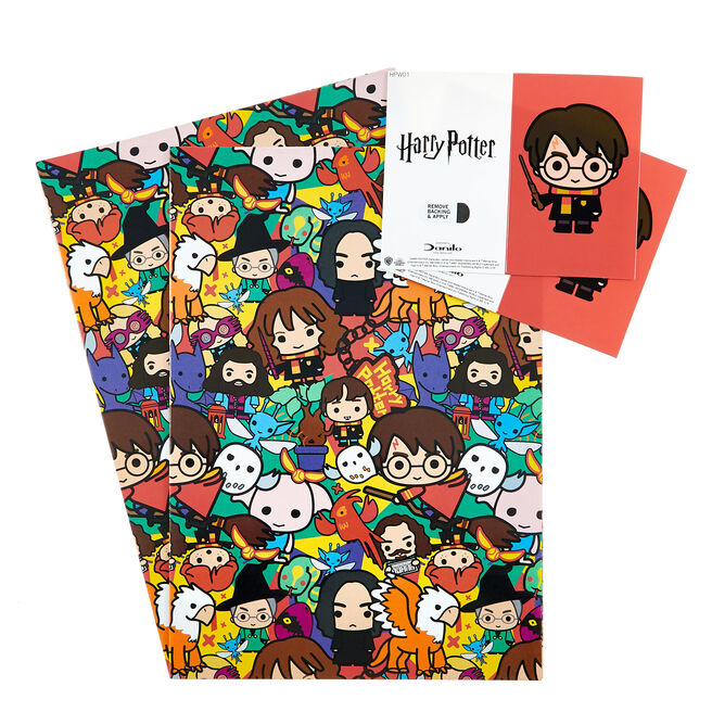 Harry Potter Wrapping Paper & Gift Tags - Pack of 2