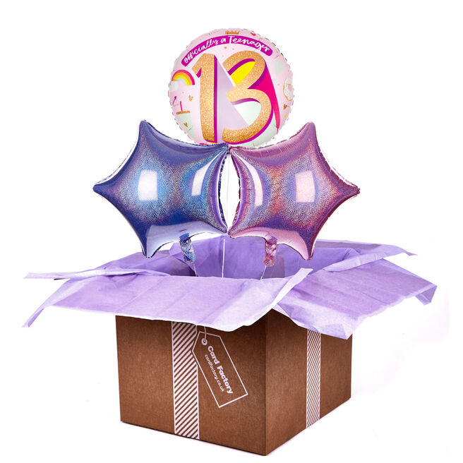 Pink Official Teenager 13th Birthday Balloon Bouquet - DELIVERED INFLATED!