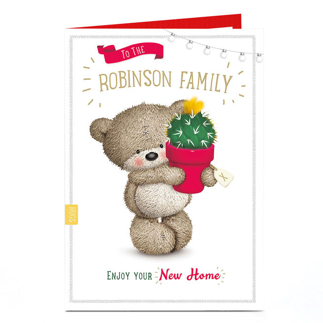 Personalised New Home Card - Bear With Cactus