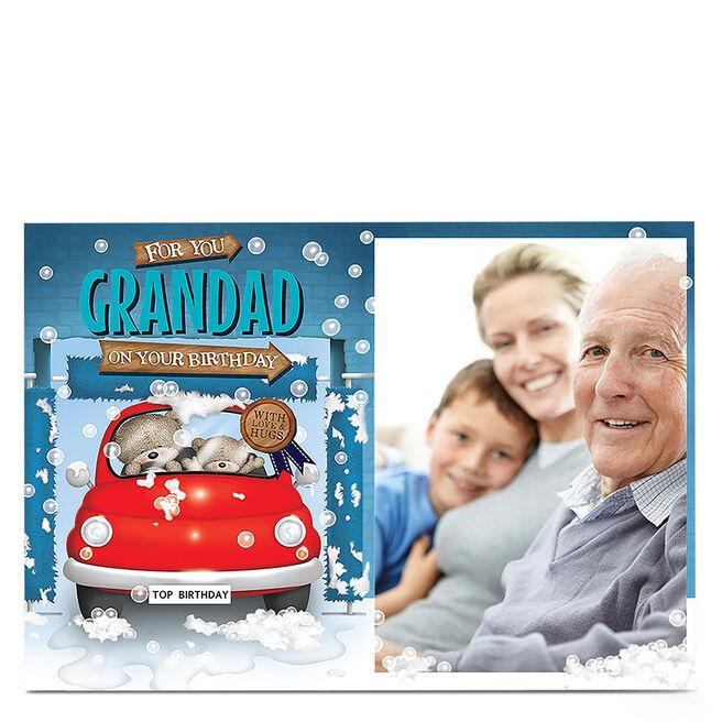 Photo Hugs Birthday Card - Birthday Car Wash