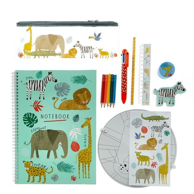 Large Jungle Party Stationery Pack