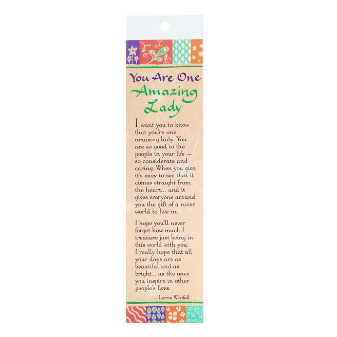 Blue Mountain Arts Bookmark - One Amazing Lady
