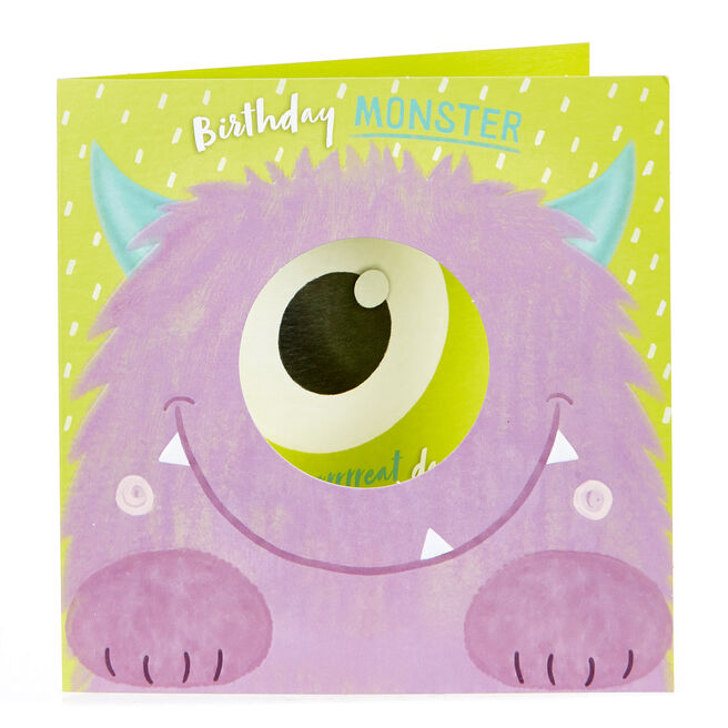 Birthday Card - Purple Monster