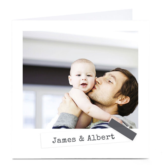 Photo Card - Plain With Grey Tape