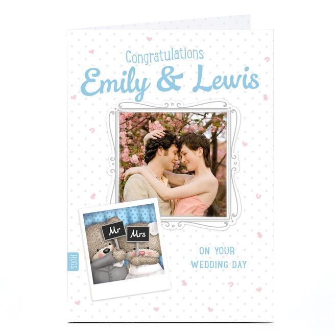 Hugs Photo Wedding Day Card - Congratulations Mr & Mrs