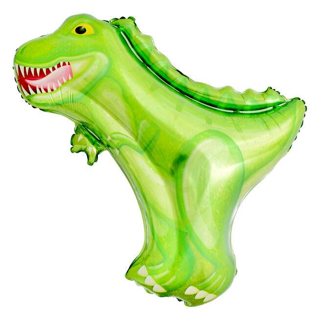 Giant T-Rex Dinosaur 33-Inch Foil Helium Balloon (Deflated)