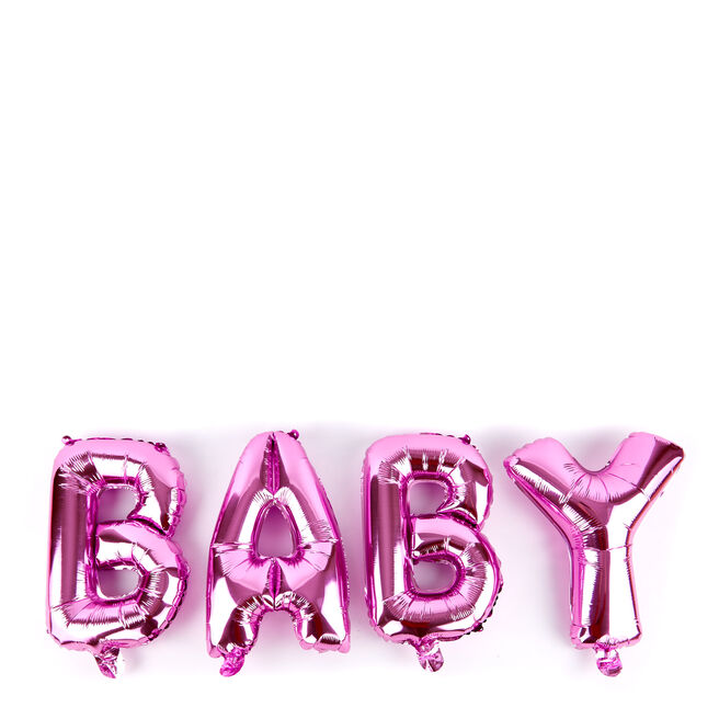 Baby Pink Balloon Banner Kit