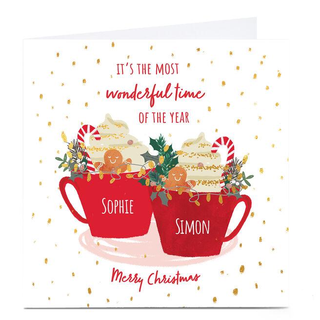 Personalised Christmas Card - Festive Mugs