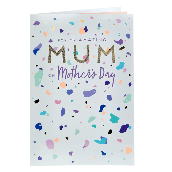 Mother's Day Card - Amazing Mum Contemporary