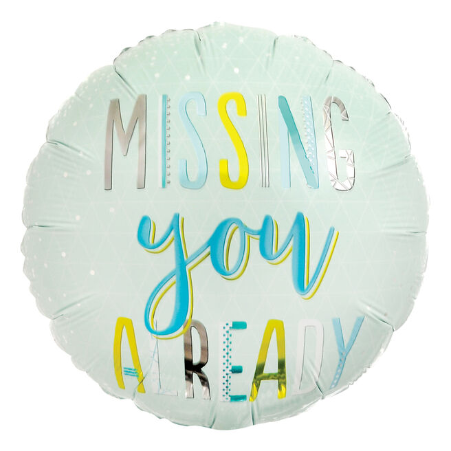Missing You Already 18-Inch Foil Helium Balloon