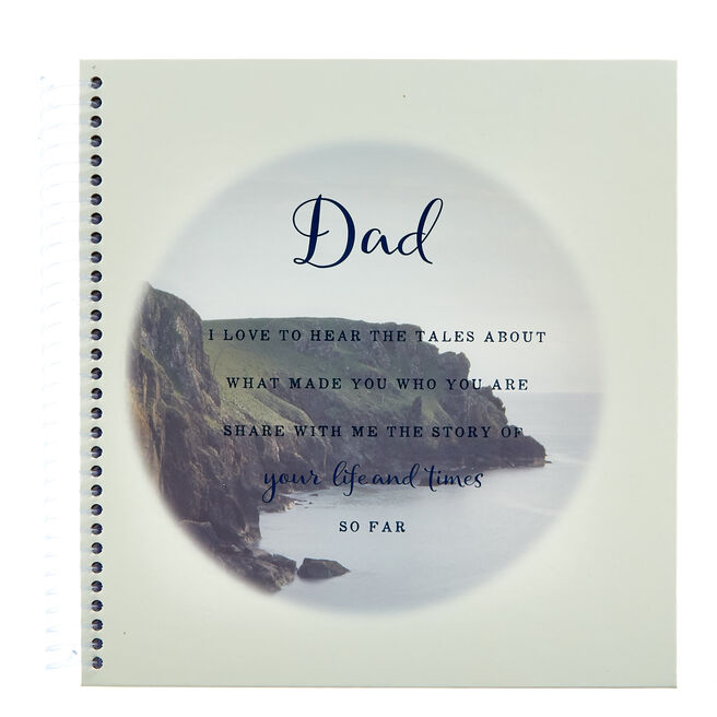 Dad's Milestone Moments Memory Lane Journal