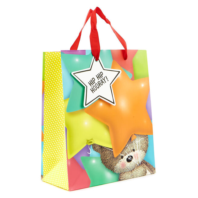 Small Gift Bag - Hugs Bear With Balloons