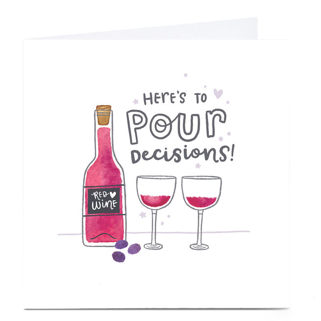 Personalised Blue Kiwi Card - Here's To Pour Decisions!