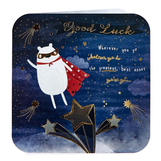 Platinum Collection Good Luck Card - Super Bear