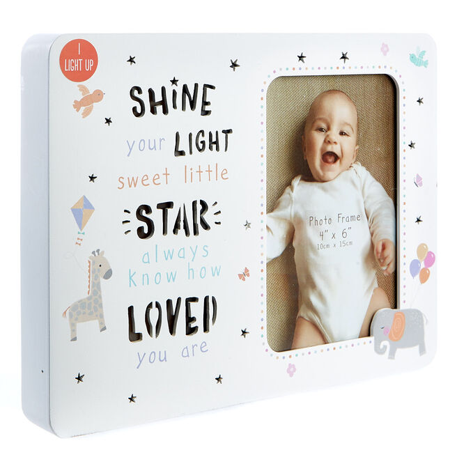 Teeny Wonders Light-Up Baby Photo Frame