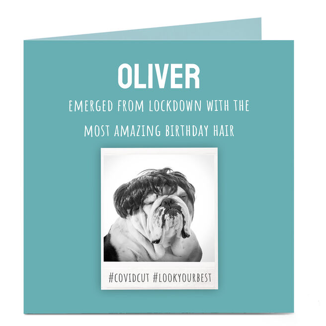 Personalised Covid Birthday Card - Covid Haircut