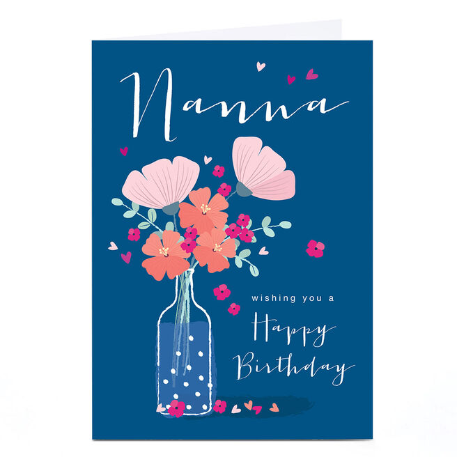 Personalised Klara Hawkins Card - Nanna Flower Vase