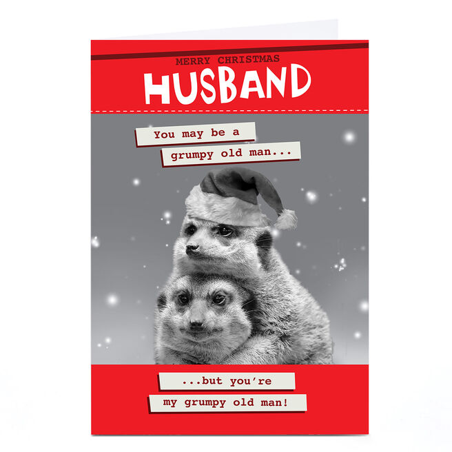Personalised Quitting Hollywood Christmas Card - Two Meerkats