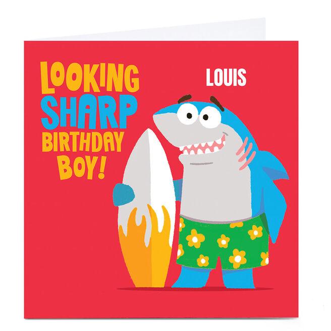 Personalised Mega Bites Birthday Card - Looking Sharp