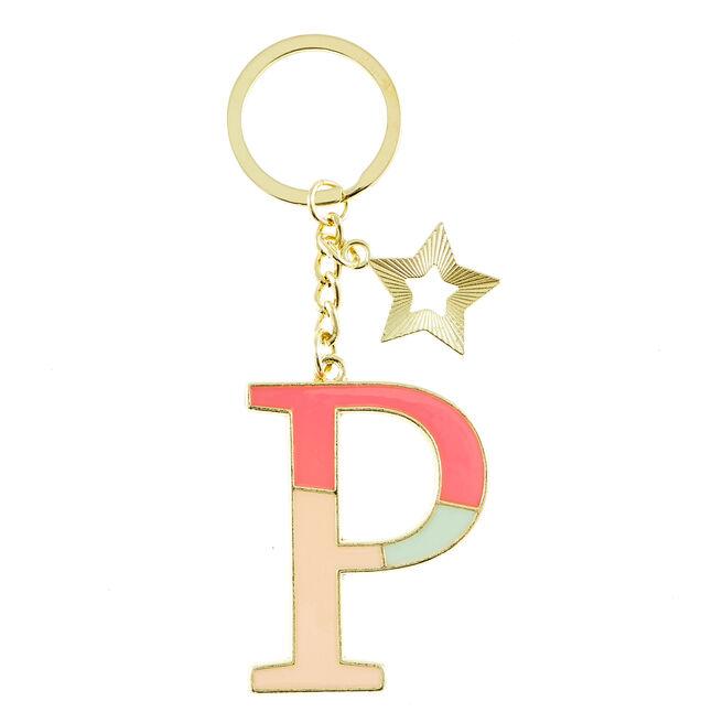 Letter P Alphabet Keyring