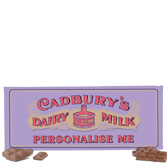 850g Personalised Retro 1905 Cadbury Dairy Milk Bar