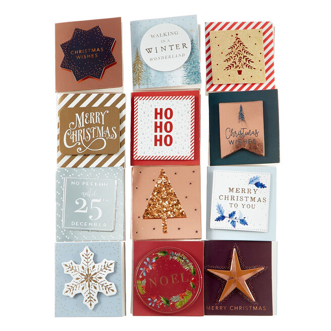 Handcrafted Traditional Christmas Gift Tags - Pack Of 24