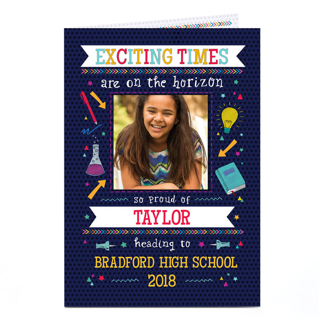 Photo Back To School Card - Exciting Times