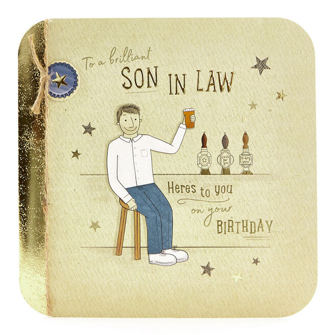 Exquisite Collection Birthday Card - Brilliant Son In Law