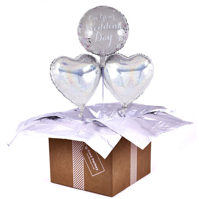 On Your Wedding Day Romantic Balloon Bouquet - DELIVERED INFLATED!