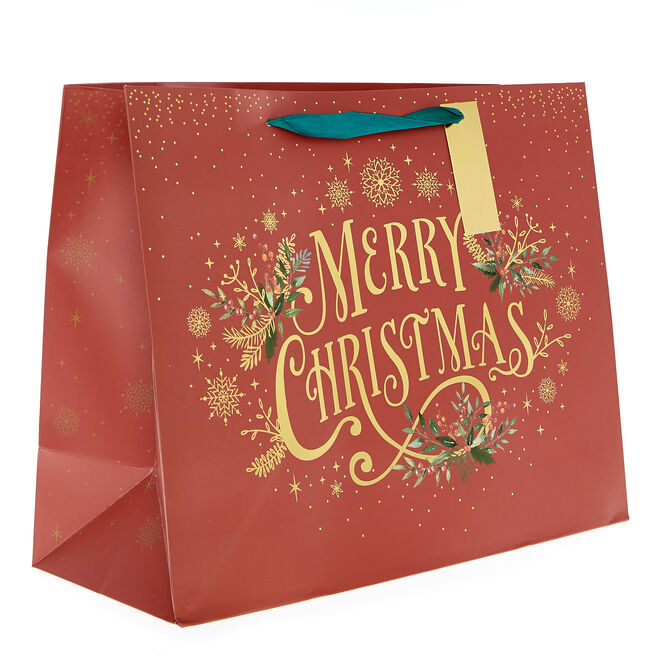 Medium Landscape Classic Christmas Gift Bag