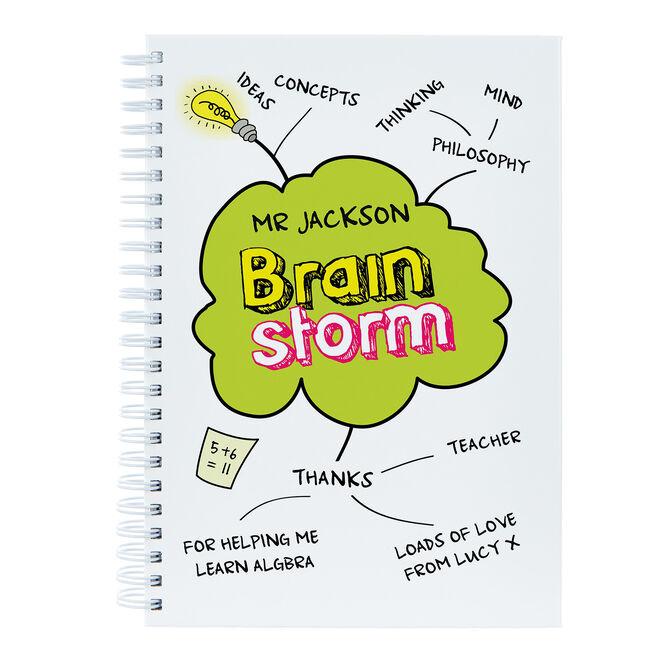 Personalised Brain Storm Teacher Notebook