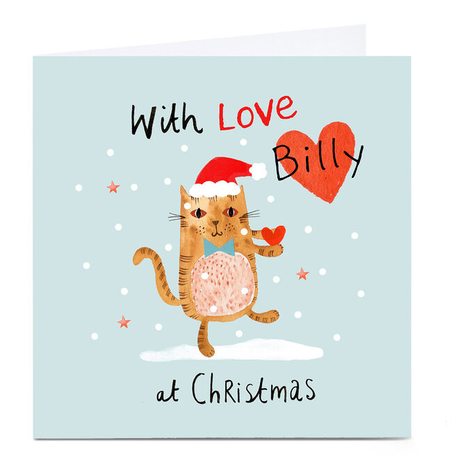 Personalised Lindsay Loves To Draw Christmas Card - With Love