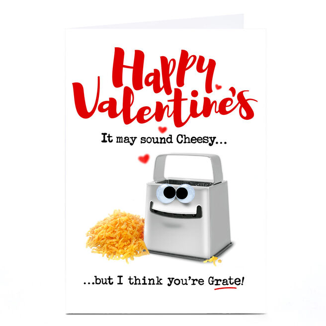 Personalised PG Quips Valentine's Day Card - It May Sound Cheesy