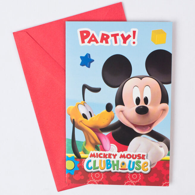 Disney Mickey Mouse Clubhouse Party Invitations - Pack Of 6