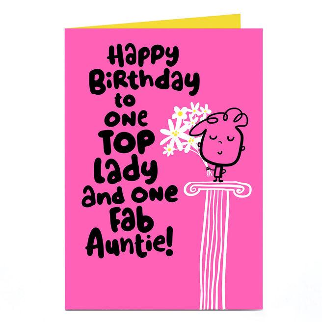 Fruitloops Personalised Birthday Card - Fab Auntie