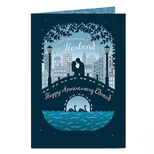 Personalised Anniversary Card - Bridge Silhouette