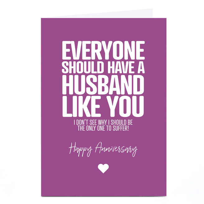 Personalised Punk Cards Anniversary Card - Husband Like You