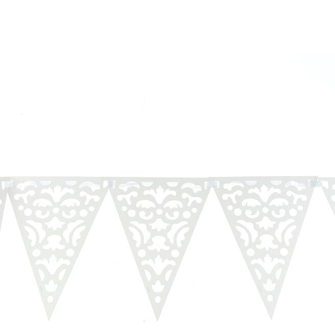 Die Cut Lace Paper Flag Banner
