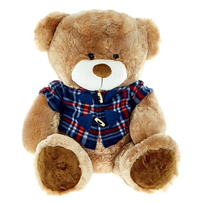 Large Bear in Duffle Coat Soft Toy