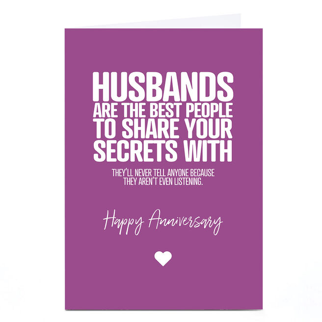 Personalised Punk Anniversary Card - Husband