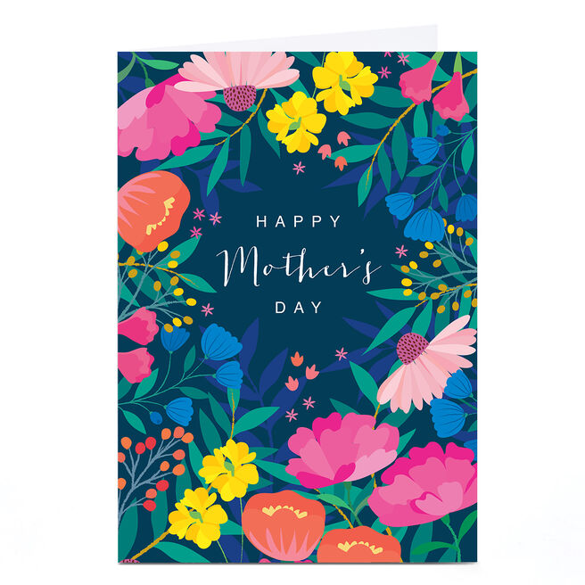 Personalised Klara Hawkins Mother's Day Card - Colourful Flowers