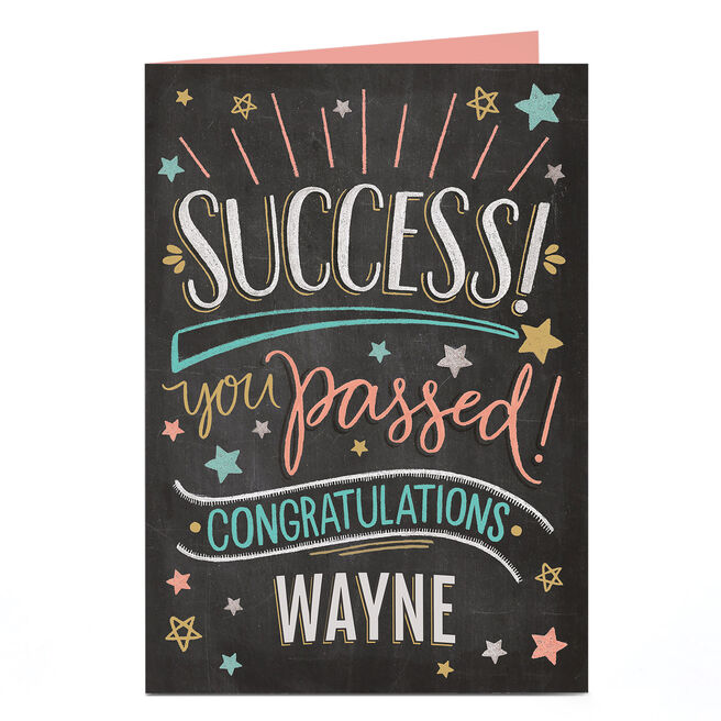 Personalised Congratulations Card - Success!