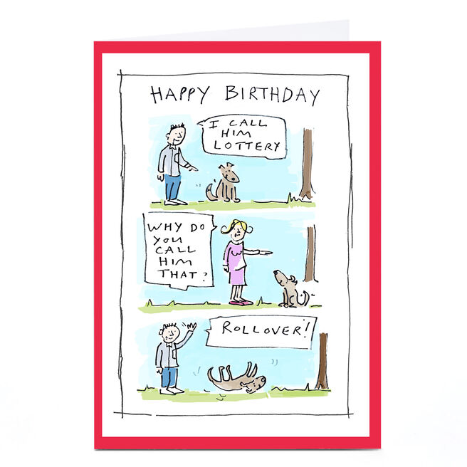Personalised Vicar Of Scribbly Card - I Call Him Lottery...