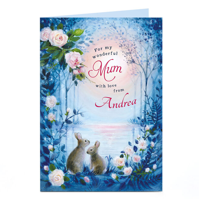 Personalised Card - Rabbits By The Water