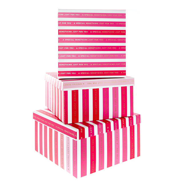 Pink Something Special Gift Boxes - Set Of 3
