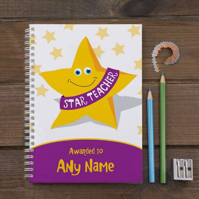 Personalised Star Teacher Notebook