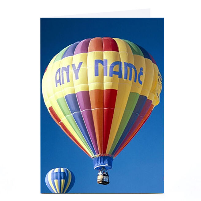 Personalised Card - Hot Air Balloon