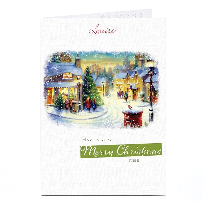 Personalised Christmas Card - Snowy Street