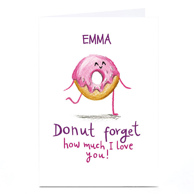 Personalised Whale & Bird Card - Donut Forget