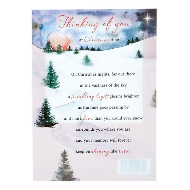Memorial Postcard - Thinking Of You At Christmas